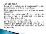 uso de find
