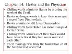 ch a pter 14 hester and the physici a n