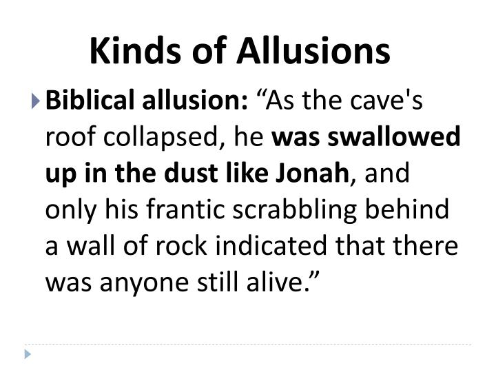 Kinds of Allusions