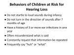 behaviors of children at risk for hearing loss