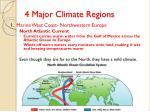 4 major climate regions