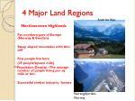 4 major land regions