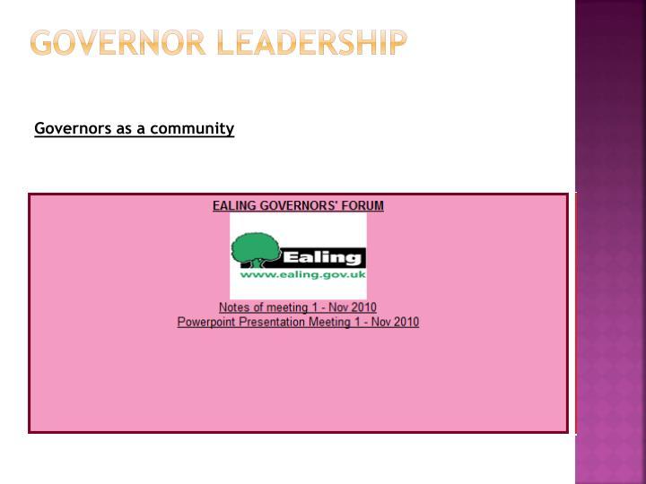 Governor leadership