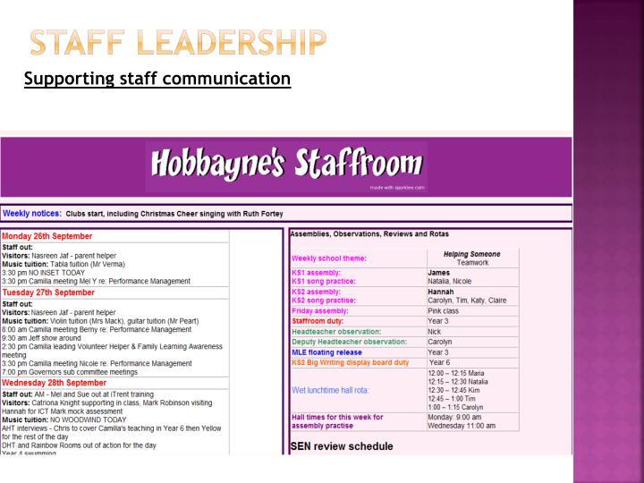 Staff leadership