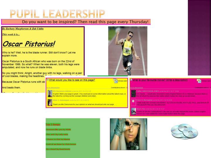 Pupil LEADERSHIP