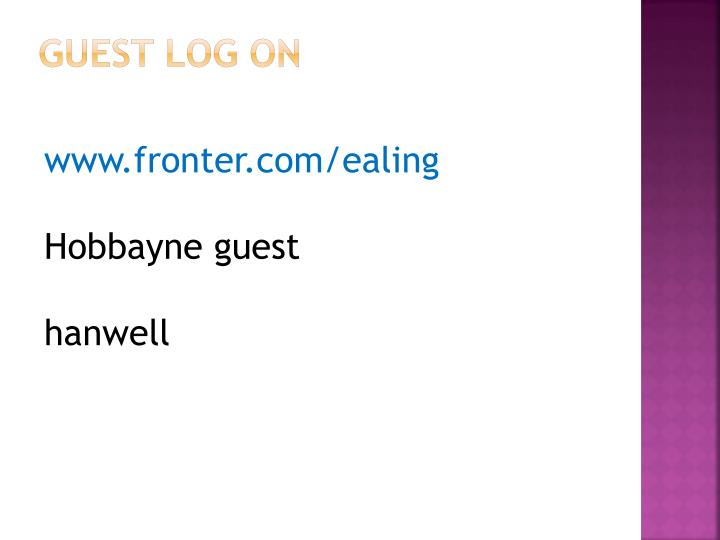 Guest log on