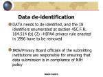 data de identification