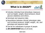 what is in dbgap