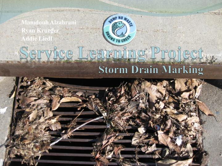 service learning project storm drain marking n.