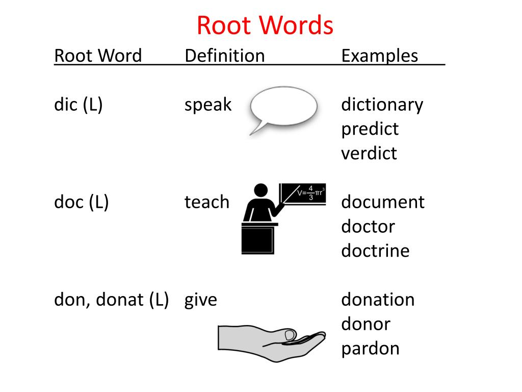 ppt root words powerpoint presentation id 2211162