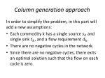 column generation approach