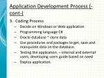 application development process cont1
