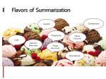 flavors of summarization