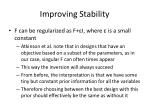improving stability1