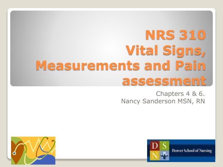nrs 310 vital signs measurements and pain assessment n.