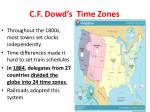 c f dowd s time zones