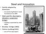 steel and innovation