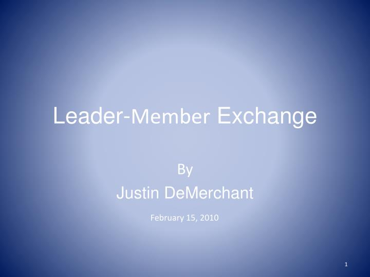 leader member exchange n.
