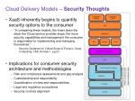 cloud delivery models security thoughts