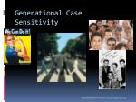 generational case sensitivity