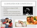 guidelines for competence