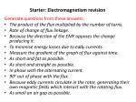 starter electromagnetism revision