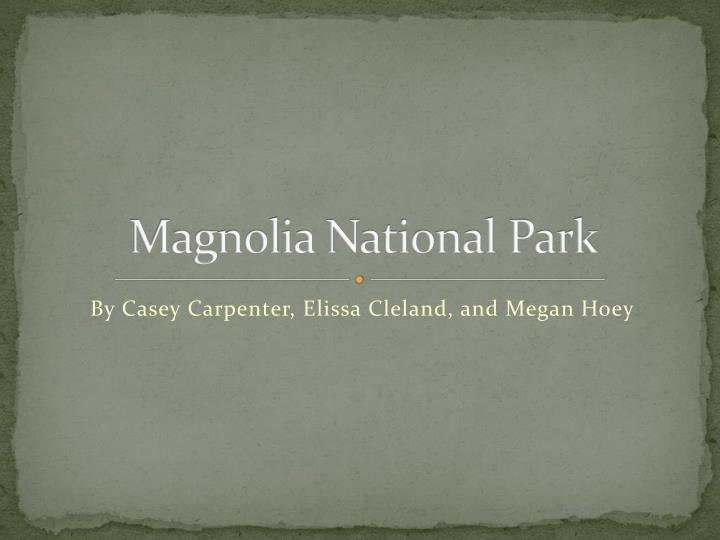 magnolia national park n.