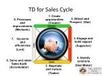 td for sales cycle