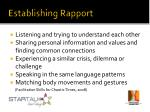 establishing rapport