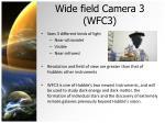 wide field camera 3 wfc3