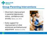 group parenting interventions