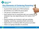 key elements of centering parenting