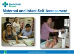 maternal and infant self assessment