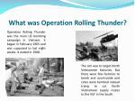 what was operation rolling thunder