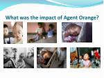 what was the impact of agent orange