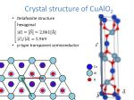crystal structure of cualo 2