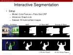 interactive segmentation