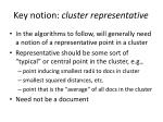 key notion cluster representative