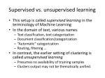 supervised vs unsupervised learning