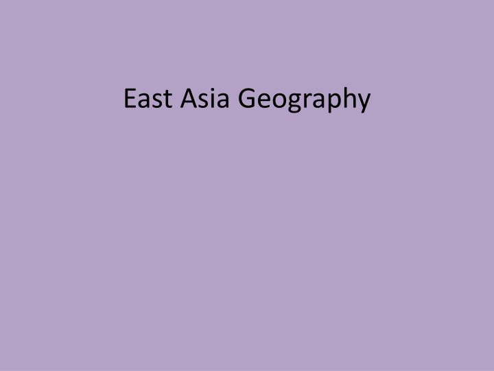 east asia geography n.