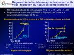 r gression de la cirrhose apr s traitement anti viral r duction du risque de complications 1