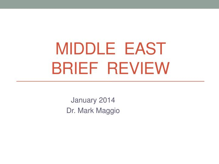 middle east brief review n.