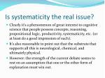 is systematicity the real issue