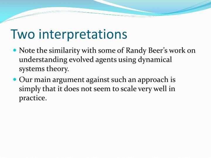 Two interpretations
