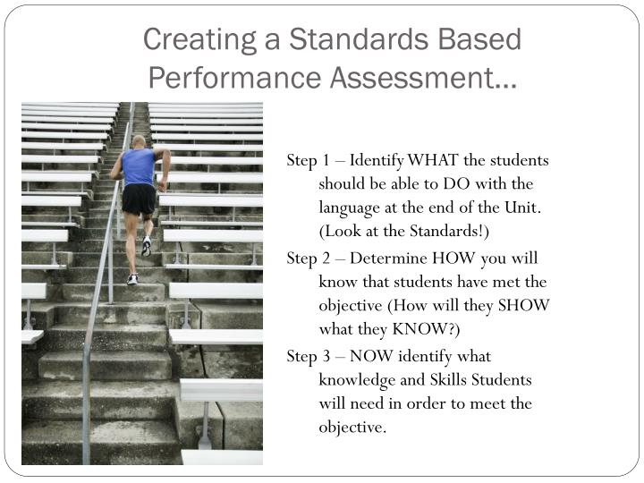 Creating a Standards Based Performance Assessment…