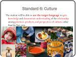 standard 6 culture