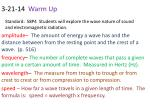 standard s8p4 students will explore the wave nature of sound and electromagnetic radiation5