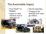 the automobile impact