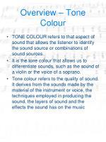 overview tone colour