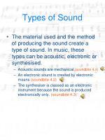 types of sound
